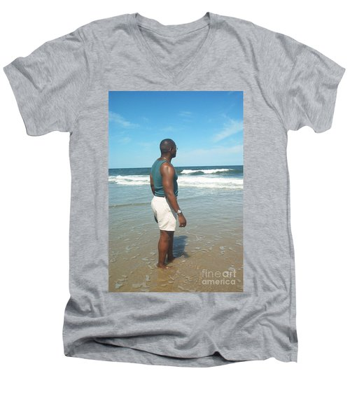 In Deep Thought Men's V-Neck T-Shirt