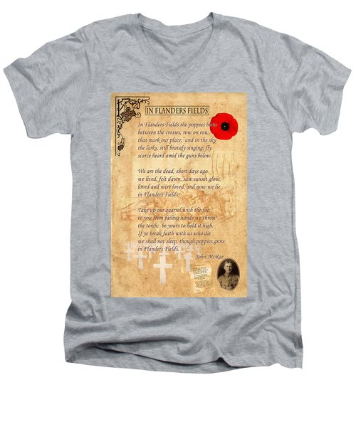 In Flanders Fields Men's V-Neck T-Shirt