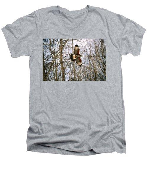In Flight Men's V-Neck T-Shirt by David Porteus