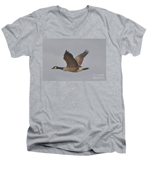 In Flight Men's V-Neck T-Shirt by William Norton
