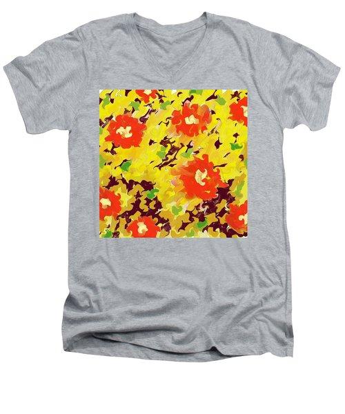 In Full Bloom Men's V-Neck T-Shirt by Alec Drake