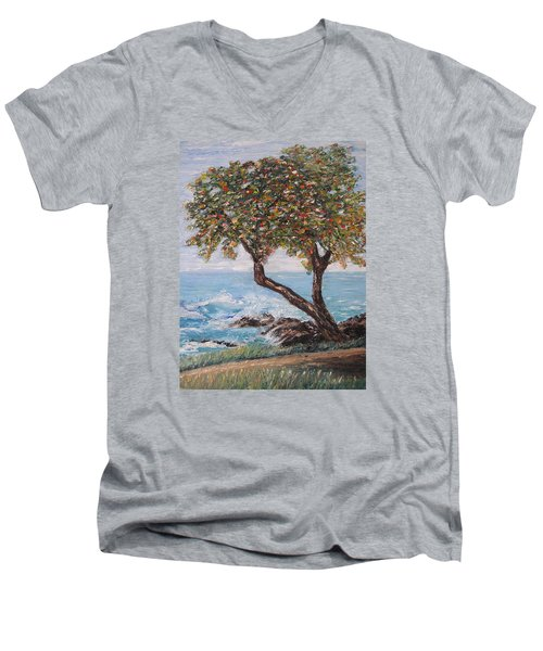 In Hawaii Men's V-Neck T-Shirt by Roberta Rotunda
