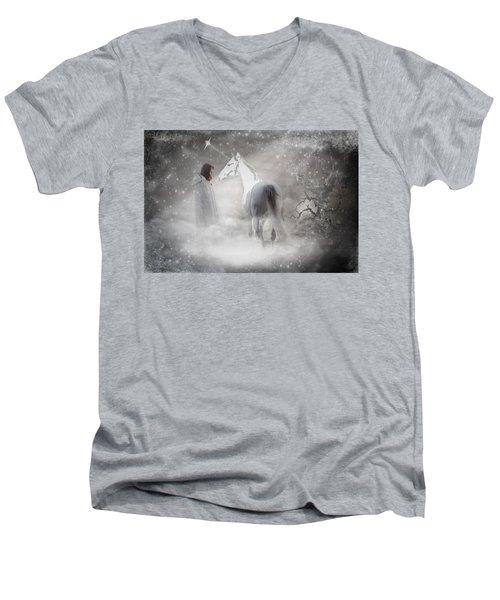 In Honor Of The Unicorn Men's V-Neck T-Shirt