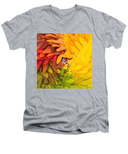 Men's V-Neck T-Shirt featuring the photograph In Living Color by Aaron Aldrich