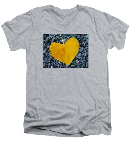 Men's V-Neck T-Shirt featuring the photograph In Love ... by Juergen Weiss
