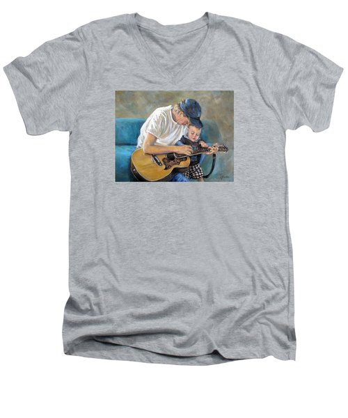 In Memory Of Baby Jordan Men's V-Neck T-Shirt by Donna Tucker