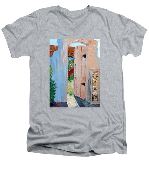 In Old Mesilla Nm Men's V-Neck T-Shirt