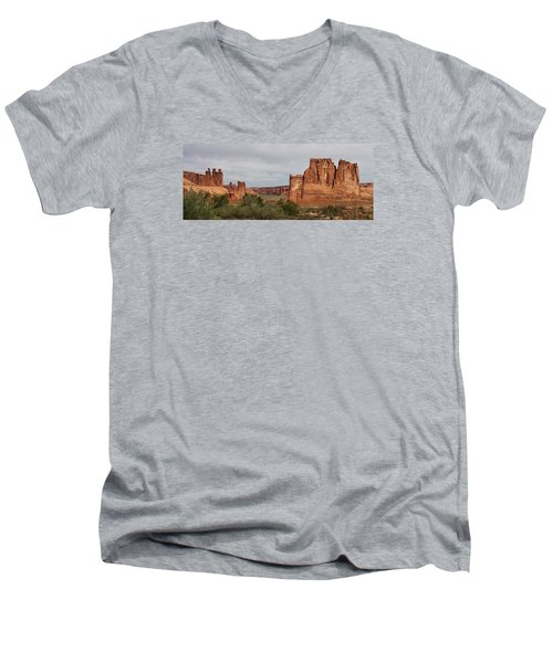 Men's V-Neck T-Shirt featuring the photograph In The Canyon by Bruce Bley
