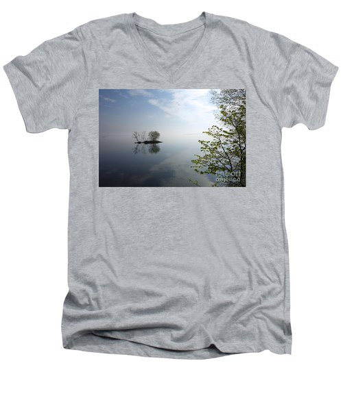 In The Distance On Mille Lacs Lake In Garrison Minnesota Men's V-Neck T-Shirt