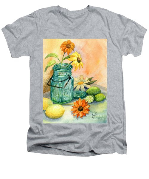 In The Lime Light Men's V-Neck T-Shirt