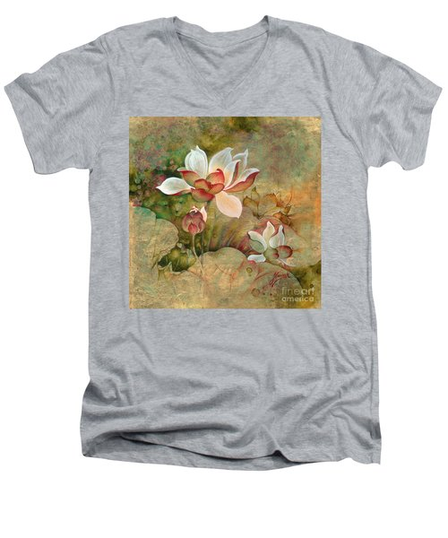 In The Lotus Land Men's V-Neck T-Shirt