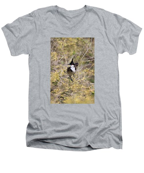 Men's V-Neck T-Shirt featuring the photograph In The Moment by Amy Gallagher
