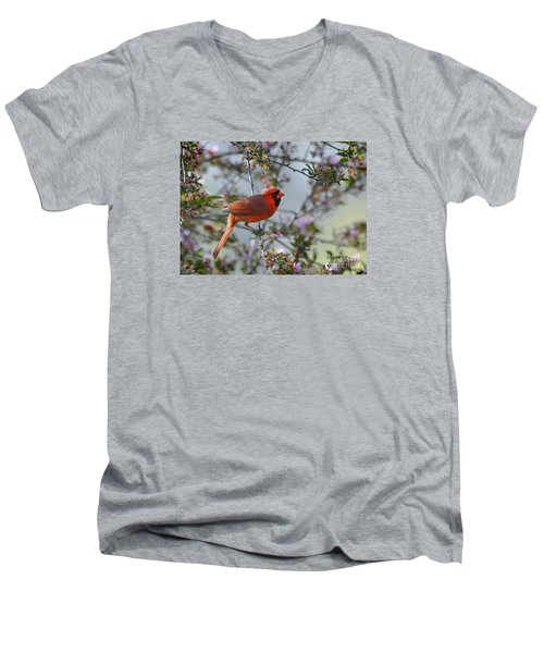 Men's V-Neck T-Shirt featuring the photograph In The Spring by Nava Thompson