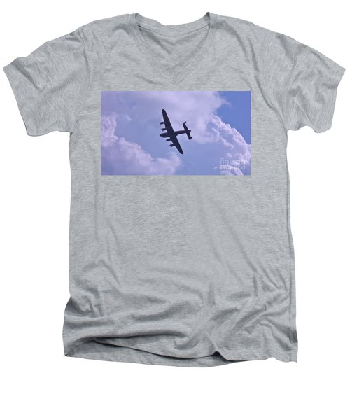 Men's V-Neck T-Shirt featuring the photograph In To The Clouds by John Williams