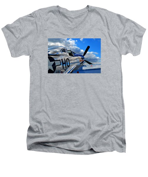 In To The Wild Blue Men's V-Neck T-Shirt