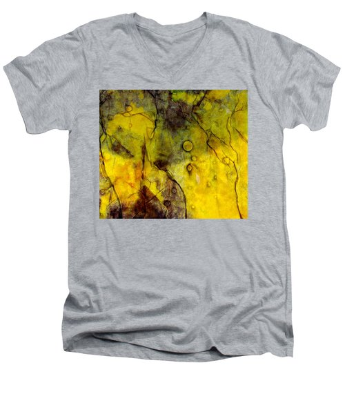 In Yellow  Men's V-Neck T-Shirt by Danica Radman