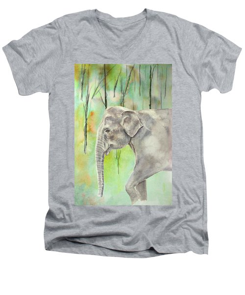 Indian Elephant Men's V-Neck T-Shirt