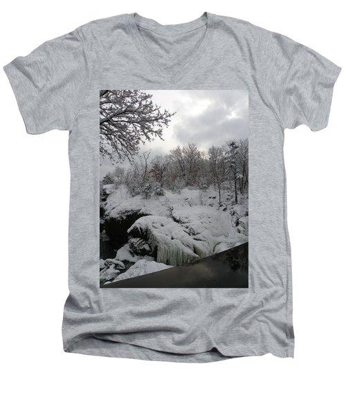 Indian Leap In Winter Men's V-Neck T-Shirt