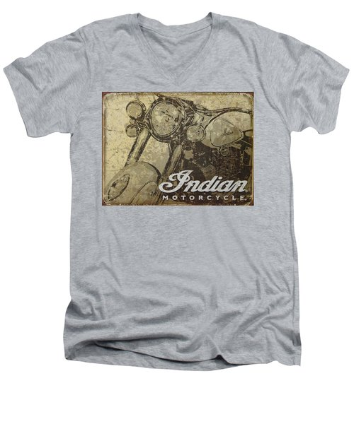 Indian Motorcycle Poster Men's V-Neck T-Shirt