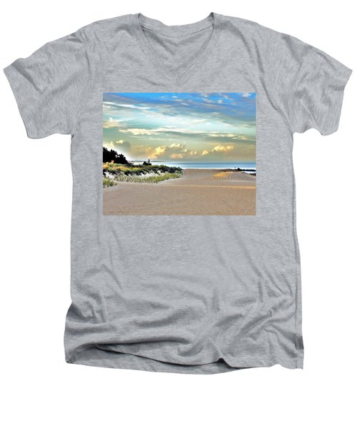 Indian River Inlet - Delaware State Parks Men's V-Neck T-Shirt