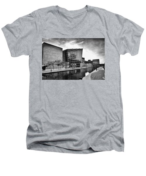 Indiana State Museum Men's V-Neck T-Shirt by David Haskett
