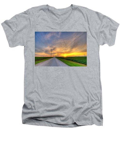 Indiana Sunset Men's V-Neck T-Shirt