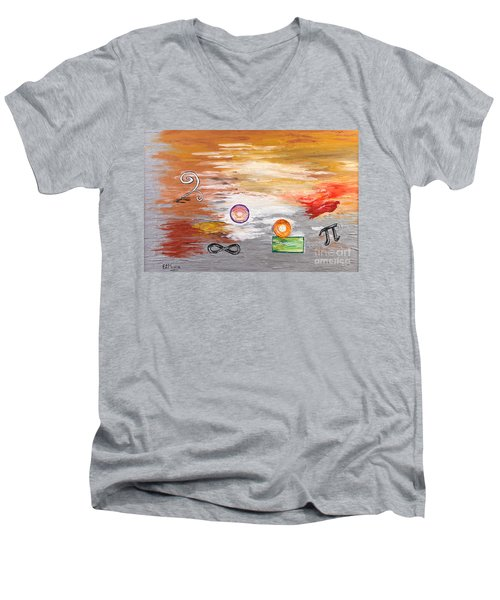 Infinity Men's V-Neck T-Shirt by Loredana Messina
