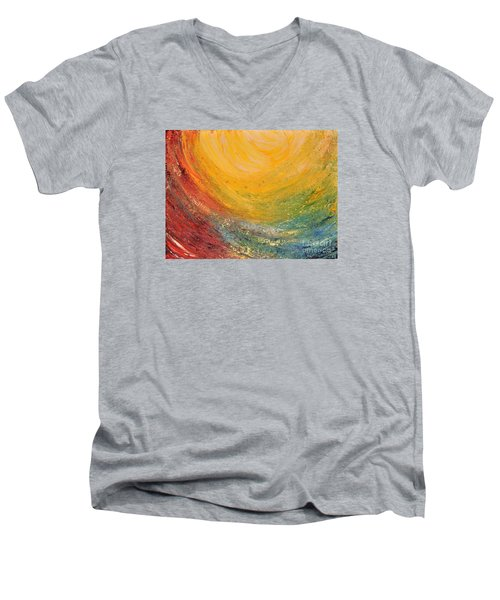 Men's V-Neck T-Shirt featuring the painting Infinity by Teresa Wegrzyn