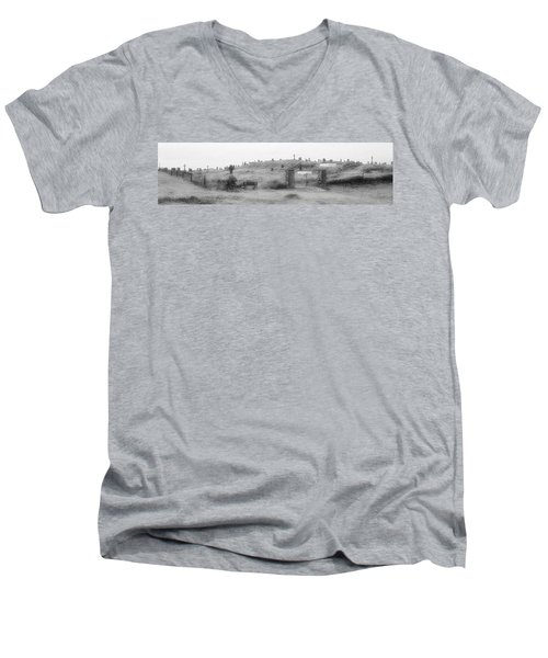 Inis Oirr Cemetery Men's V-Neck T-Shirt by Tara Potts