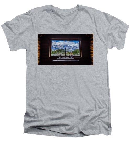 Inside Looking Out Men's V-Neck T-Shirt by Debra Martz