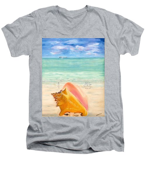 Inside The Head Of A Conch Woman Men's V-Neck T-Shirt