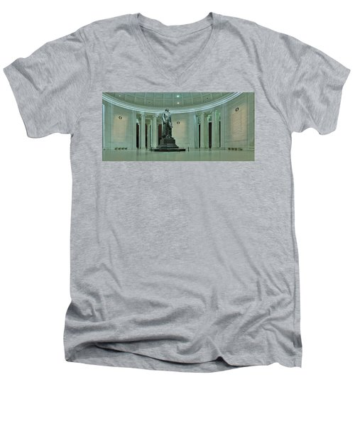 Inside The Jefferson Memorial Men's V-Neck T-Shirt