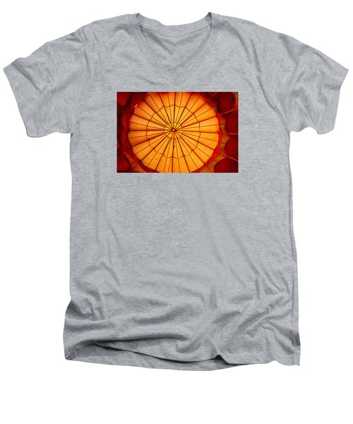 Men's V-Neck T-Shirt featuring the photograph Inside The Red Baloon by Nadalyn Larsen