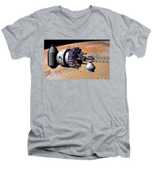 Inspection Over Mars Men's V-Neck T-Shirt