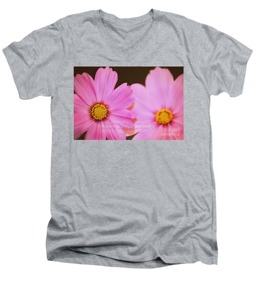 Inspirational Flower 2 Men's V-Neck T-Shirt