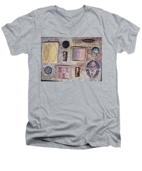 Inspire Collage Men's V-Neck T-Shirt