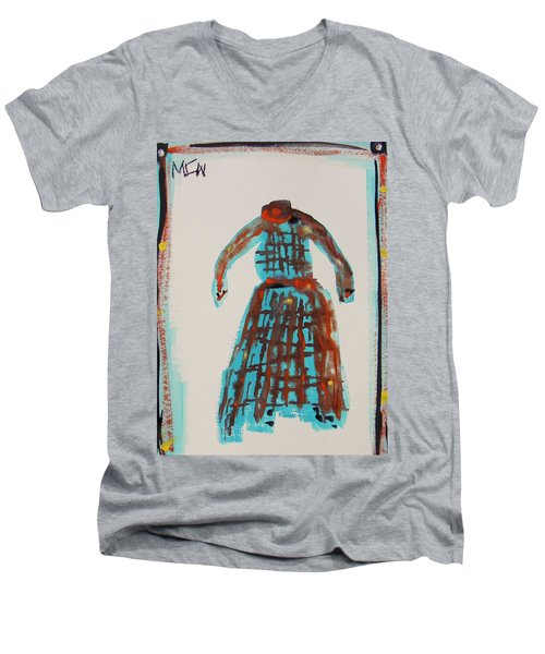 Inspired By Vuillard Men's V-Neck T-Shirt by Mary Carol Williams