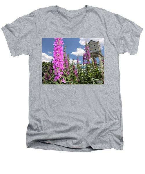 Inspiring Peace - Signed Men's V-Neck T-Shirt