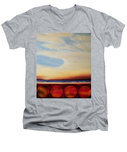 Internal Fires Men's V-Neck T-Shirt by Albert Puskaric