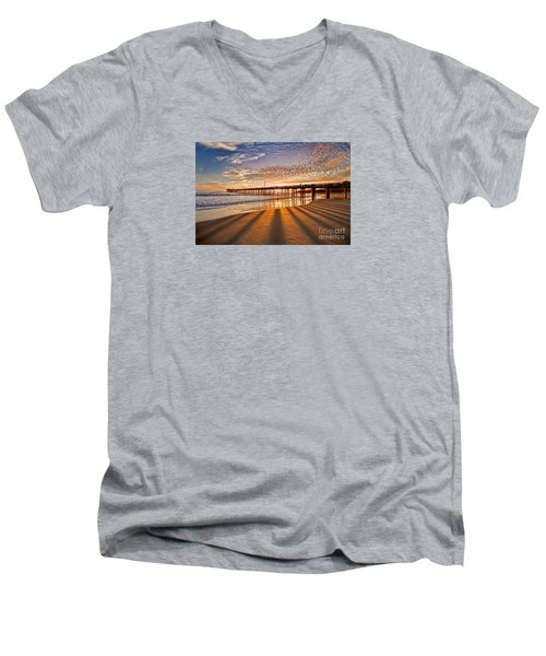 Into The Light Men's V-Neck T-Shirt by Alice Cahill