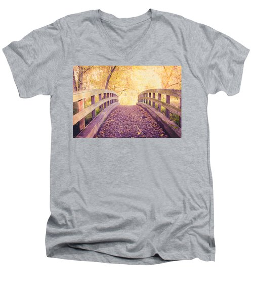Into The Light Men's V-Neck T-Shirt by Sara Frank