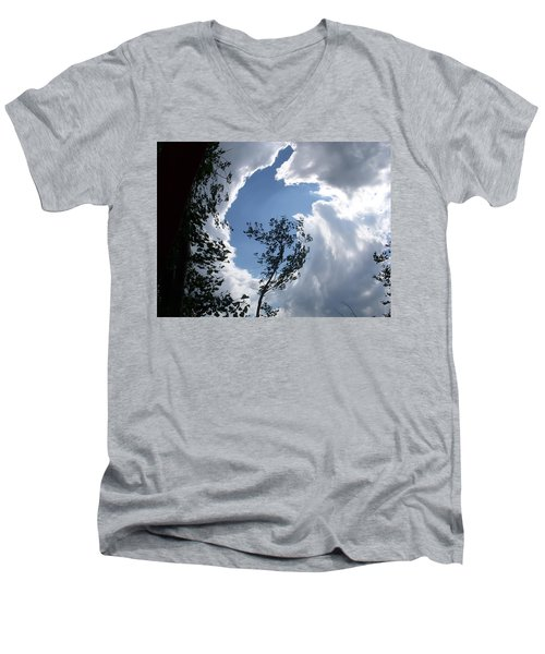 Into The Sky Men's V-Neck T-Shirt by Aimee L Maher Photography and Art Visit ALMGallerydotcom