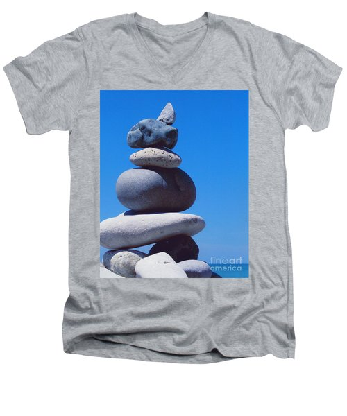 Inukshuk 1 By Jammer Men's V-Neck T-Shirt