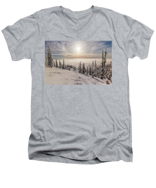 Inversion Sunset Men's V-Neck T-Shirt