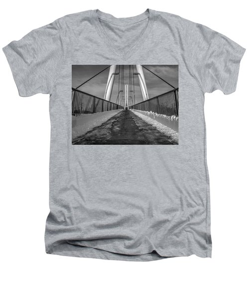 Ipfw Bridge Men's V-Neck T-Shirt