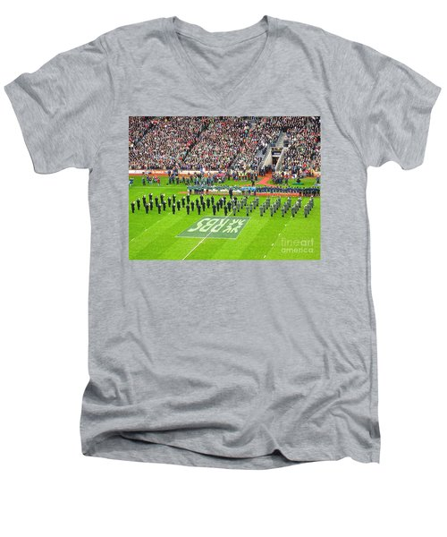 Ireland Vs France Men's V-Neck T-Shirt by Suzanne Oesterling