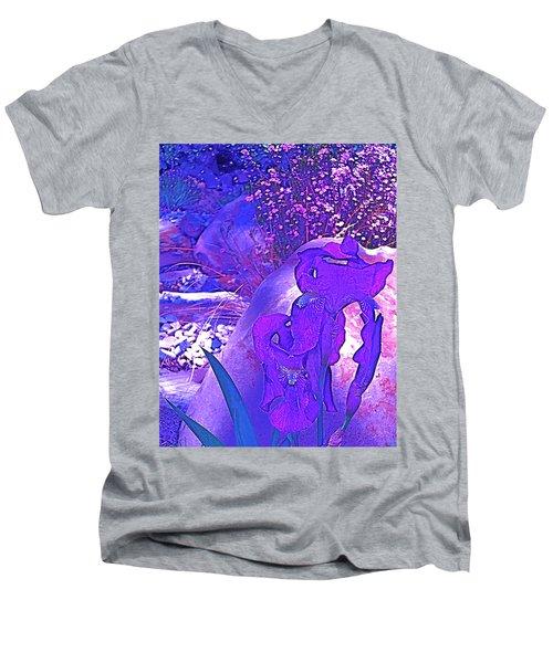 Iris 2 Men's V-Neck T-Shirt by Pamela Cooper