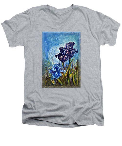 Iris Men's V-Neck T-Shirt by Harsh Malik