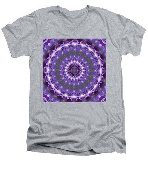 Iris Kaleidoscope  Men's V-Neck T-Shirt