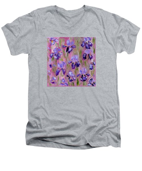 Iris Pattern Men's V-Neck T-Shirt